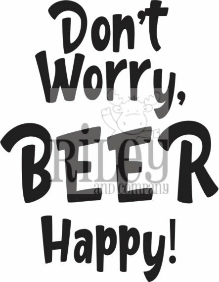 Riley And Company Funny Bones DON'T WORRY BEER HAPPY Cling Rubber Stamp RWD 908 zoom image