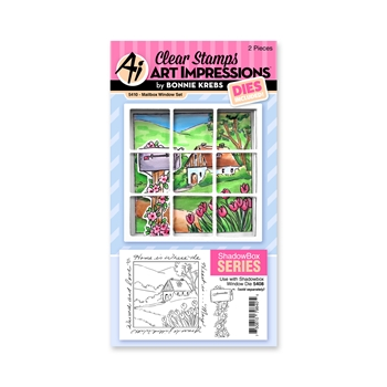 Art Impressions MAILBOX WINDOW SET Clear Stamps and Dies 5410