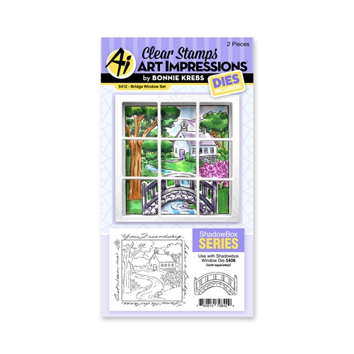 Art Impressions BRIDGE WINDOW SET Clear Stamps and Dies 5412 Preview Image