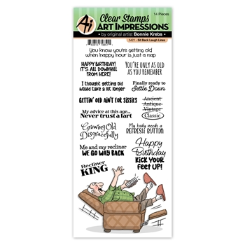 Art Impressions SIT BACK Laugh Lines Clear Stamps 5421