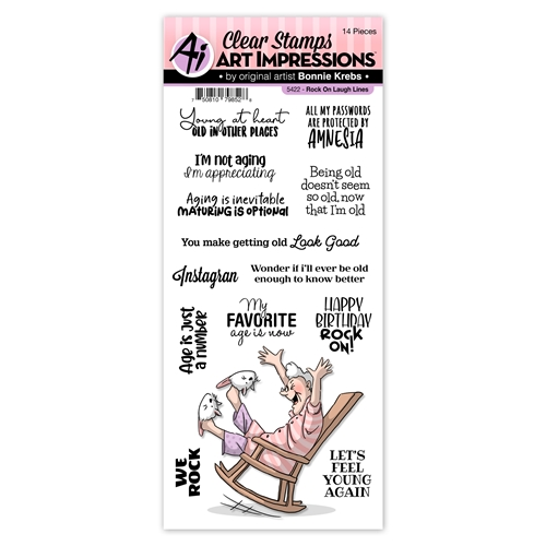 Art Impressions ROCK ON Laugh Lines Clear Stamps 5422 Preview Image
