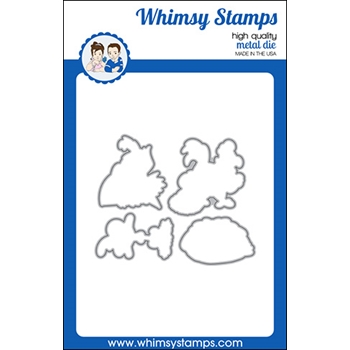Whimsy Stamps WHAT THE CLUCK Dies WSD415a