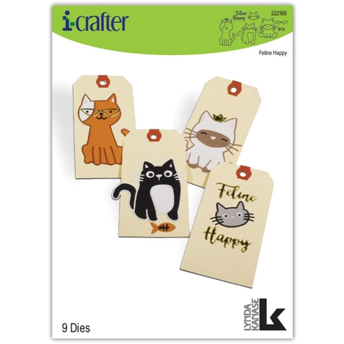 i-Crafter FELINE HAPPY Dies 222168 Preview Image