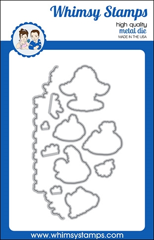 Whimsy Stamps BUTT NUGGETS Dies WSD423a  zoom image