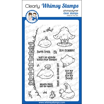 Whimsy Stamps BUTT NUGGETS Clear Stamps CWSD374