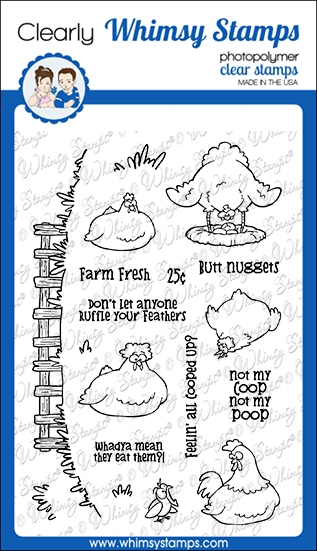 Whimsy Stamps BUTT NUGGETS Clear Stamps CWSD374 zoom image