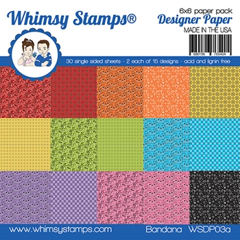 Whimsy Stamps BANDANA 6 x 6 Paper Pack WSDP03a