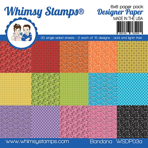 Whimsy Stamps BANDANA 6 x 6 Paper Pack WSDP03a zoom image