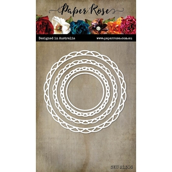Paper Rose SCALLOP LACE CIRCLE FRAME Die 21306*