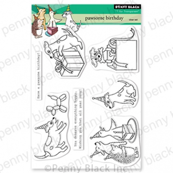 Penny Black Clear Stamps PAWSOME BIRTHDAY 30 837