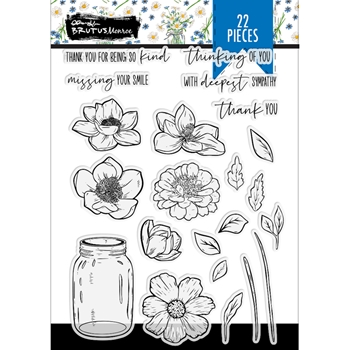 Brutus Monroe HOMEGROWN HAPPINESS Clear Stamps bru0706*