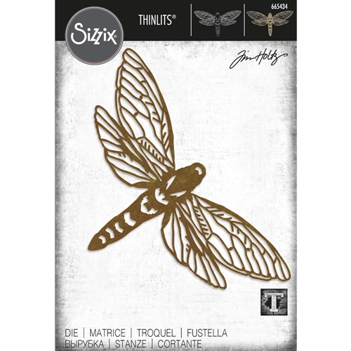 Tim Holtz Sizzix PERSPECTIVE MOTH Thinlits Dies 665434 Preview Image