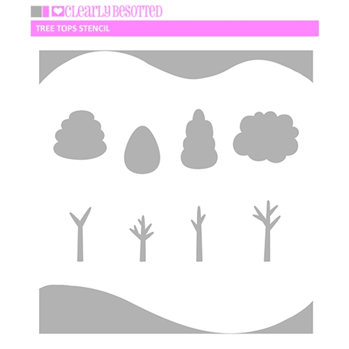 Clearly Besotted TREE TOPS Stencil  Preview Image