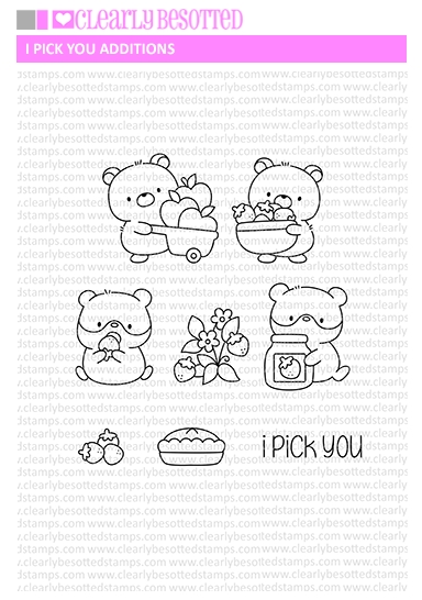 Clearly Besotted I PICK YOU ADDITIONS Clear Stamps zoom image