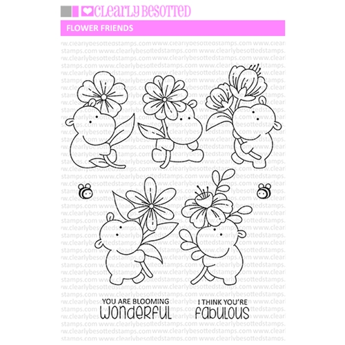 Clearly Besotted FLOWER FRIENDS Clear Stamps Preview Image
