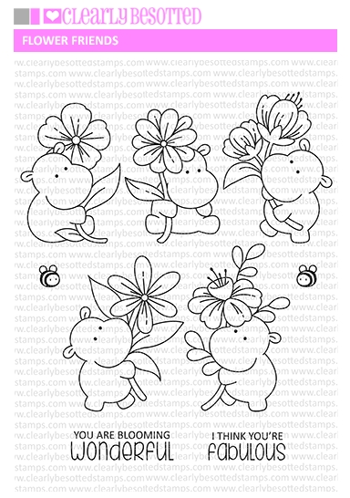 Clearly Besotted FLOWER FRIENDS Clear Stamps zoom image
