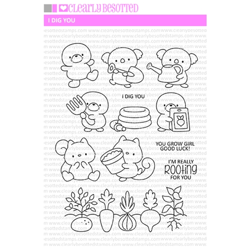 Clearly Besotted I DIG YOU Clear Stamps Preview Image