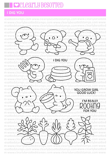 Clearly Besotted I DIG YOU Clear Stamps zoom image