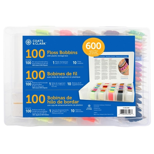 Coats and Clark STORAGE BOX AND FLOSS BOBBINS c11jv60 Preview Image