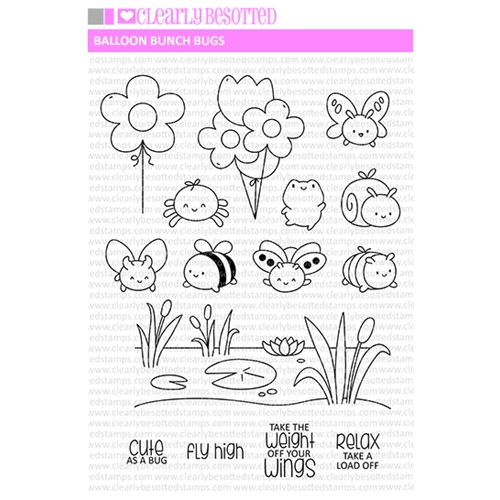 Clearly Besotted BALLOON BUNCH BUGS Clear Stamps Preview Image