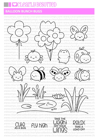 Clearly Besotted BALLOON BUNCH BUGS Clear Stamps zoom image