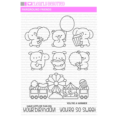 Clearly Besotted FAIRGROUND FRIENDS Clear Stamps Preview Image
