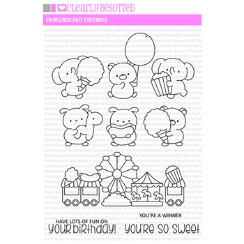 Clearly Besotted FAIRGROUND FRIENDS Clear Stamps