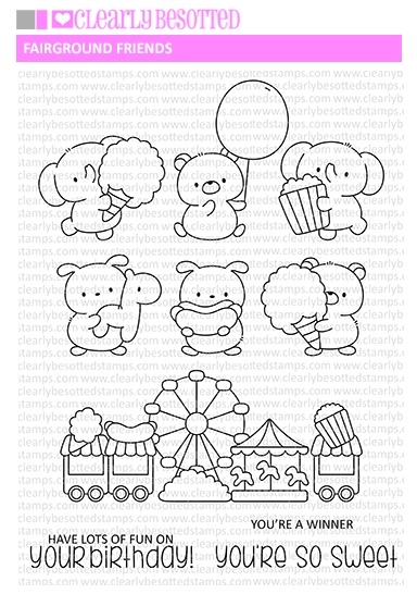 Clearly Besotted FAIRGROUND FRIENDS Clear Stamps zoom image