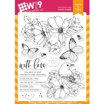 Wplus9 FLORA AND FAUNA 3 Clear Stamps clwp9ff3