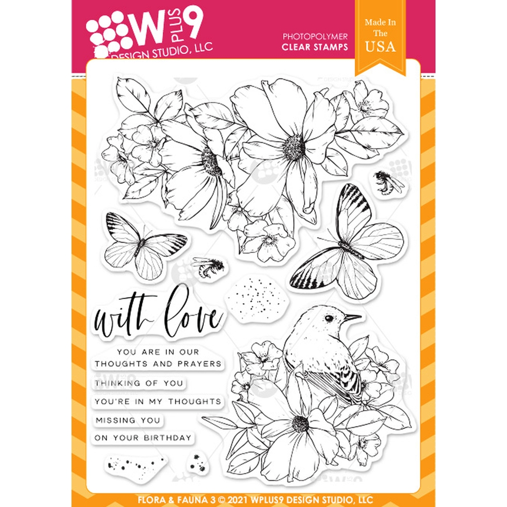 Wplus9 FLORA AND FAUNA 3 Clear Stamps clwp9ff3 zoom image
