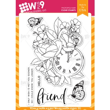 Wplus9 FLORA AND FAUNA 4 Clear Stamps clwp9ff4