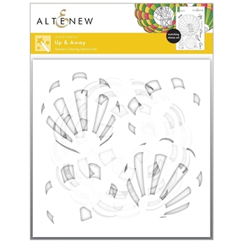 Altenew UP AND AWAY Simple Coloring Stencil ALT6198