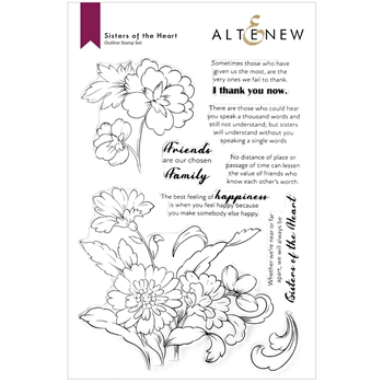 Altenew SISTERS OF THE HEART Clear Stamps ALT6183