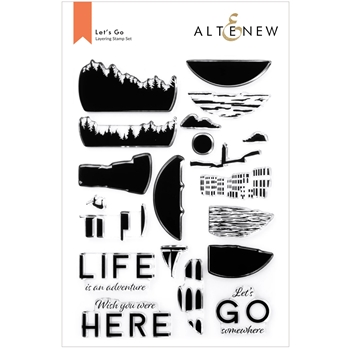 Altenew LET'S GO Clear Stamps ALT6174