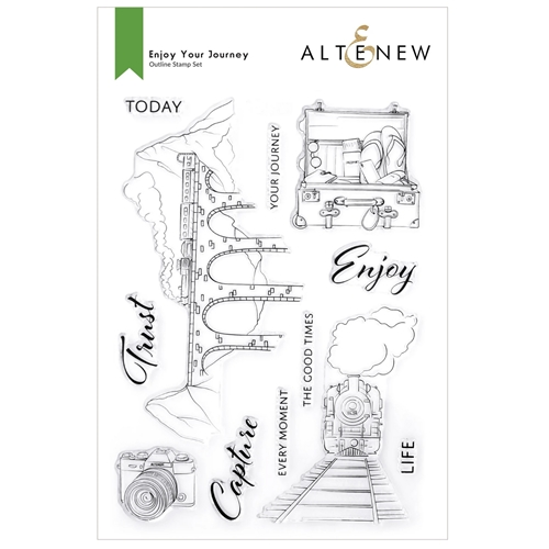 Altenew ENJOY YOUR JOURNEY Clear Stamps ALT6165 Preview Image