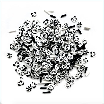 Buttons Galore and More SPRINKLETZ PANDA Embellishments NK144
