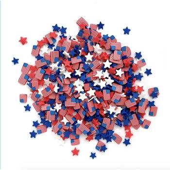 Buttons Galore and More SPRINKLETZ OLD GLORY Embellishments NK143