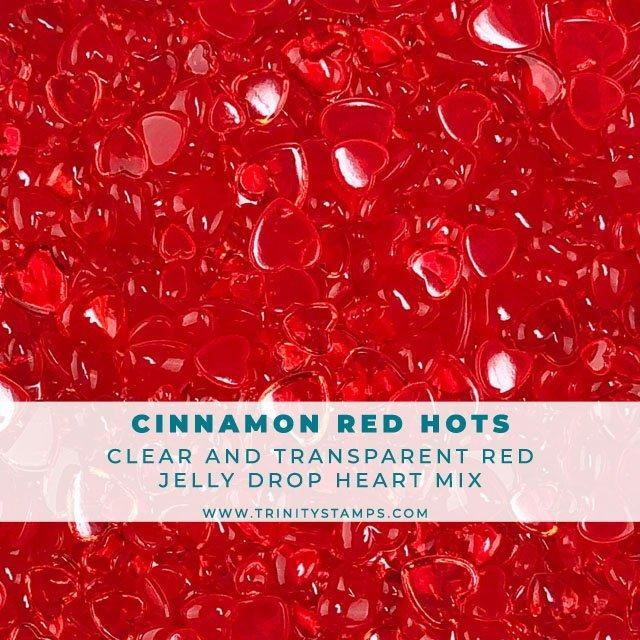 Trinity Stamps CINNAMON RED HOTS JELLY DROP HEARTS Embellishment Box 102945 zoom image