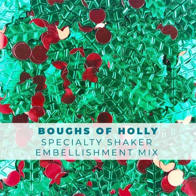 Trinity Stamps BOUGHS OF HOLLY SEASONAL CONFETTI Embellishment Box 182903 zoom image