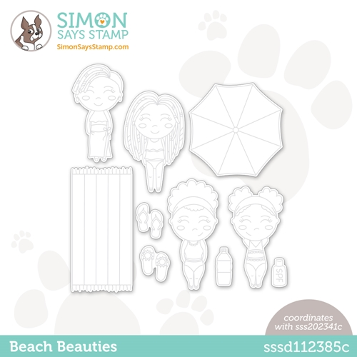 Simon Says Stamp BEACH BEAUTIES Wafer Dies sssd112385c Rainbows Preview Image