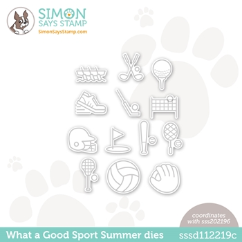 Simon Says Stamp WHAT A GOOD SPORT SUMMER Wafer Dies sssd112219c Rainbows *