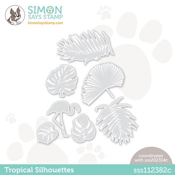 Simon Says Stamp TROPICAL SILHOUETTES Wafer Dies sssd112382c Rainbows