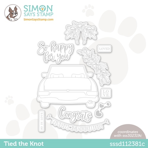 Simon Says Stamp TIED THE KNOT Wafer Dies sssd112381c Rainbows Preview Image