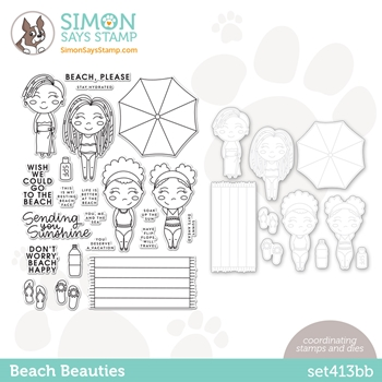 Simon Says Stamps and Dies BEACH BEAUTIES set413bb Rainbows