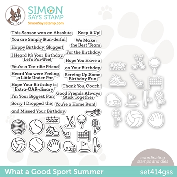 Simon Says Stamps and Dies WHAT A GOOD SPORT SUMMER set414gss Rainbows