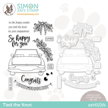 Simon Says Stamps and Dies TIED THE KNOT set410tk Rainbows