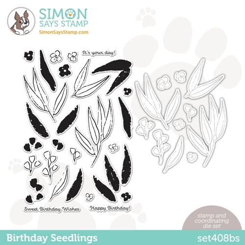 Simon Says Stamps and Dies BIRTHDAY SEEDLINGS set408bs Rainbows Preview Image