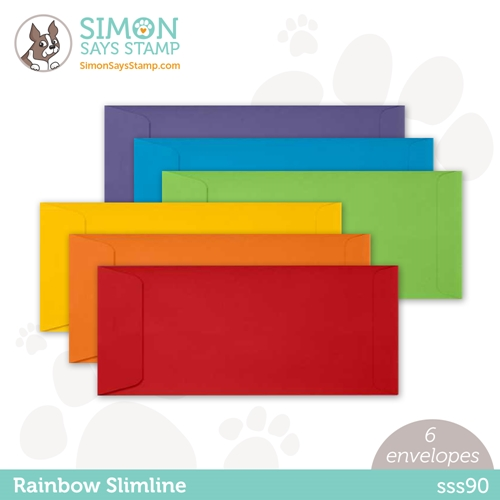 Simon Says Stamp Envelopes SLIMLINE RAINBOW PACK Open End sss90 Rainbows Preview Image