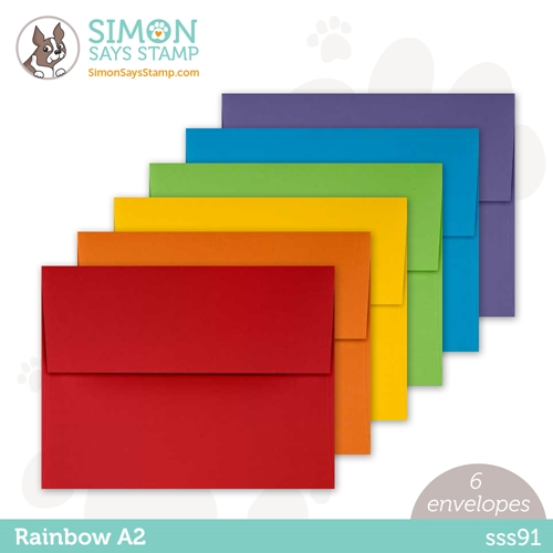 Simon Says Stamp Envelopes RAINBOW PACK sss91 Rainbows Preview Image