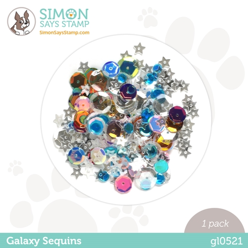 Simon Says Stamp Sequins GALAXY gl0521 Rainbows Preview Image